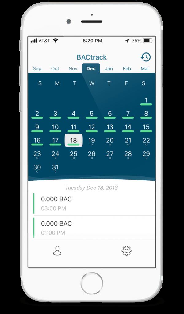 BACtrack View Calendar iPhone 8