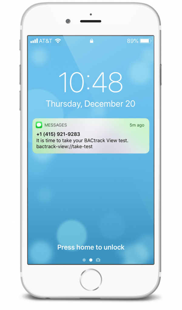 BACtrack View Text Message iPhone 8
