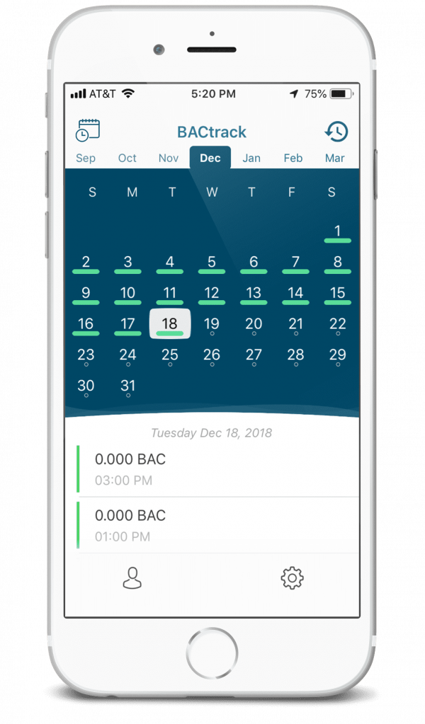 BACtrack View Calendar iPhone 8