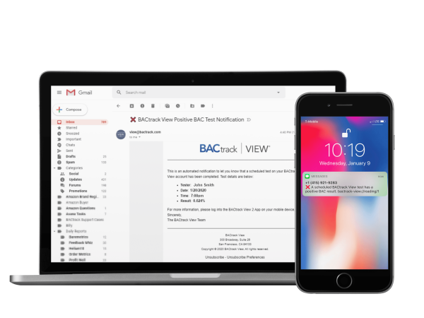 BACtrack View Monitor Notifications