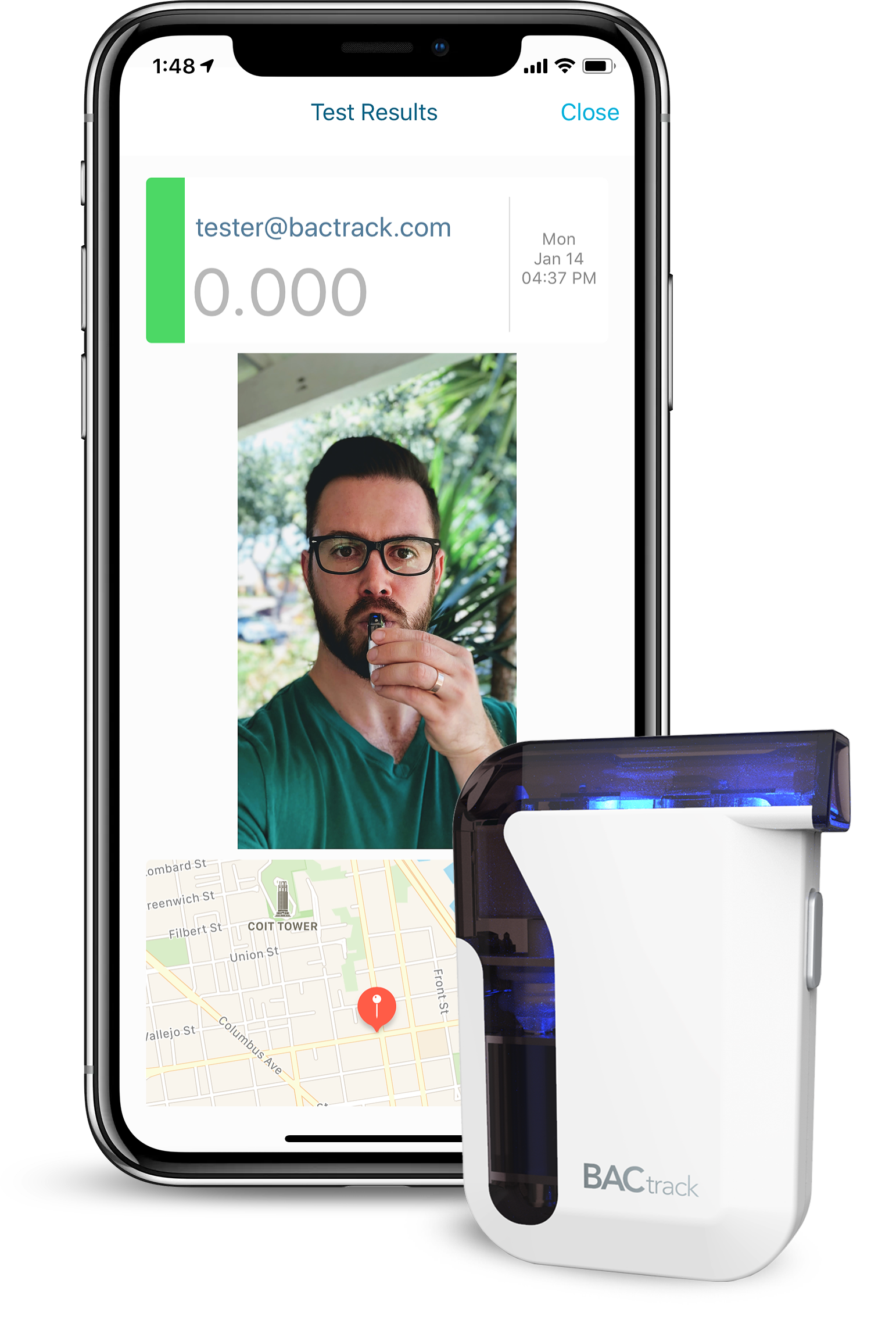 BACtrack View Test Results iPhone + Mobile Breathalyzer